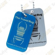 Travel bug QR - Azul Glow in the dark