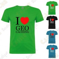 "T-Shirt ""I love Geocaching"" Enfant"