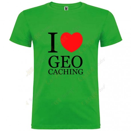 "Camiseta ""I love Geocaching"" Niño"