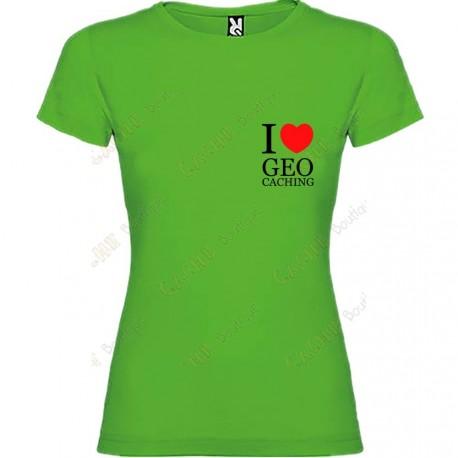 "Camiseta ""I love Geocaching"" breast Mujer"