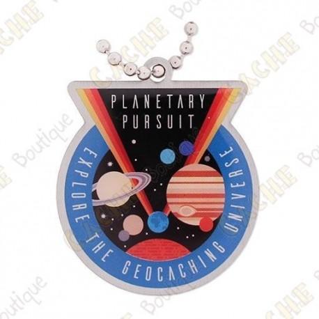 """Planetary Pursuit"" Travel tag"