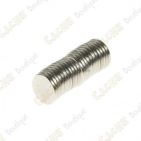 Neodynium magnets, 8mm - Pack of 10