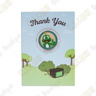 "Cartão conm Geocoin ""Thank you"""