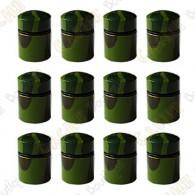 Nano Cache con imán x 12 - Camuflaje Verde