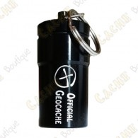 "Micro cache ""Official Geocache"" 7 cm - Black"