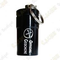 """Micro cache """"Official Geocache"""" 7 cm - Negro"""