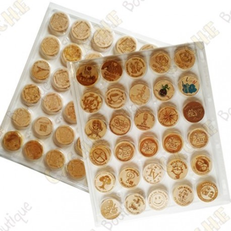 Plastic Wood coins tray - 30 fields