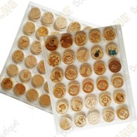 2 Plastic Wood coins trays - 30 fields