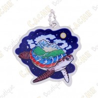 """Hidden Creatures"" Travel tag - World Turtle"