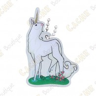 """Hidden Creatures"" Travel tag - Unicorn"