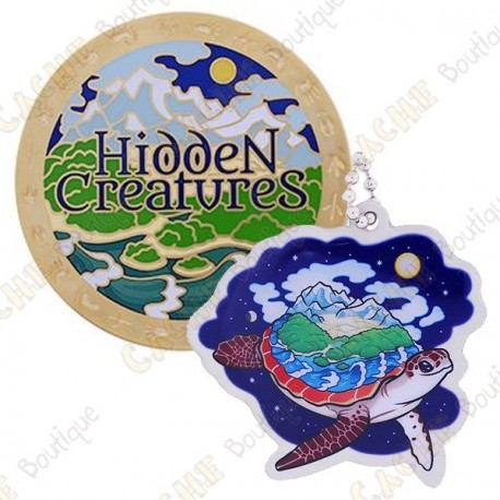 "Geocoin ""Hidden Creatures"" + Copy Tag"