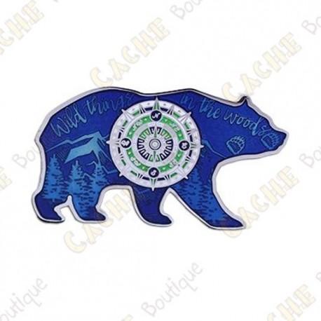 "Geocoin ""Bear"" - Blue - Limited Edition"