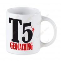 Taza Geocaching blanca - T5