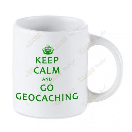Caneca Geocaching branca - Keep Calm