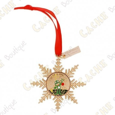 "Geocoin ""Signal ornament"" Gold - Decoration"