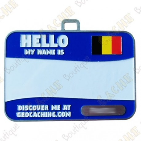 Name tag trackable - Belgium