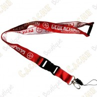 Geocaching lanyard - Red