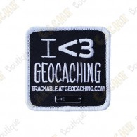 "Trackable Patch ""I love Geocaching"""
