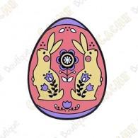"""Geocoin """"2019 Egg"""" - Rosa"""