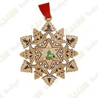 "Géocoin ""Signal ornament"" Snowflake - Decoration"