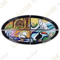 "Geocoin ""4 Seasons"" - Pack of 4"
