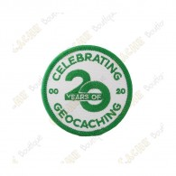 "Parche ""20 Years of Geocaching"""