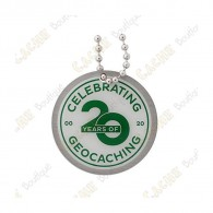 """Travel tag """"20 Years of Geocaching"""""""