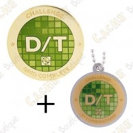 "Geocoin + Travel Tag ""Challenge"" - Difficulty Terrain 81 Grid"