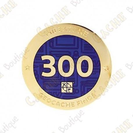"Geocoin ""Milestone"" - 300 Finds"