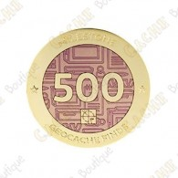 "Geocoin ""Milestone"" - 500 Finds"