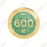 "Geocoin ""Milestone"" - 600 Finds"