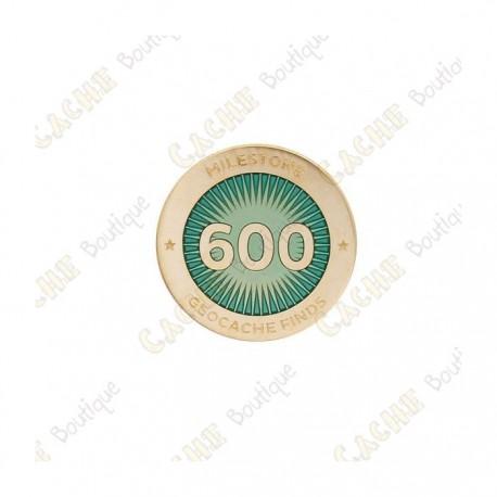 """Pin's """"Milestone"""" - 600 Finds"""