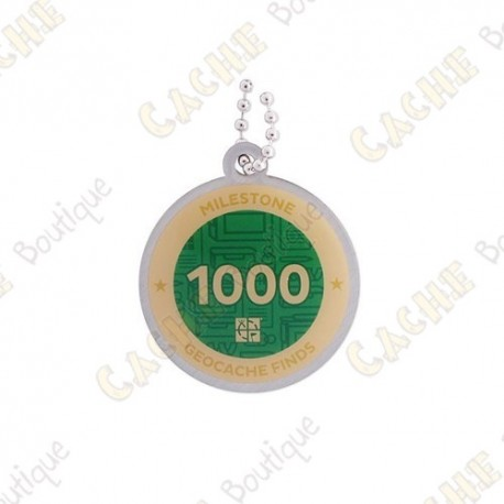 """Travel tag """"Milestone"""" - 1000 Finds"""
