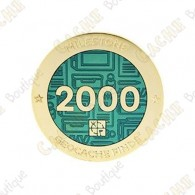 "Geocoin ""Milestone"" - 2000 Finds"