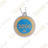 "Travel tag ""Milestone"" - 2000 Finds"