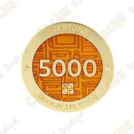 "Geocoin ""Milestone"" - 5000 Finds"