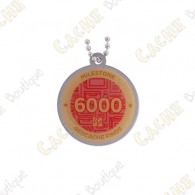 "Travel tag ""Milestone"" - 6000 Finds"