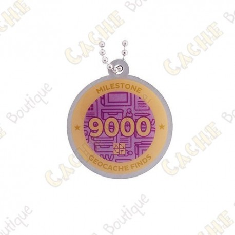 """Travel tag """"Milestone"""" - 9000 Finds"""