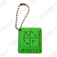 Geocaching logo 3D travel tag - Green