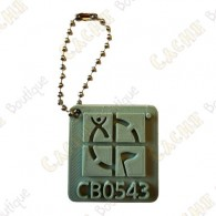 Geocaching logo 3D travel tag - Khaki