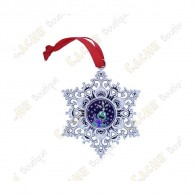 "Geocoin ""Snowflake Ornament"" - Earth"