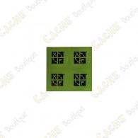 Groundspeak green round Mini stickers - Pack of 4